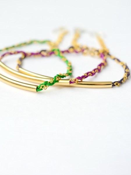 bracelet_tube_plaqué_or_24_carats_tressé_chaine_may_boheme_haute_fantaisie_piece_unique_boho_gipsy_chic