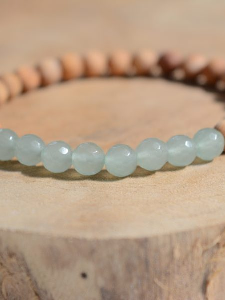 Bracelet Amé SWEET SANTAL - Perles de santal, améthyste