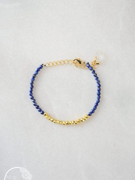 "BRACELET GOLD SERENITY ""GYSPET SPIRIT""- Bracelet perles pierre fine, pyrite"