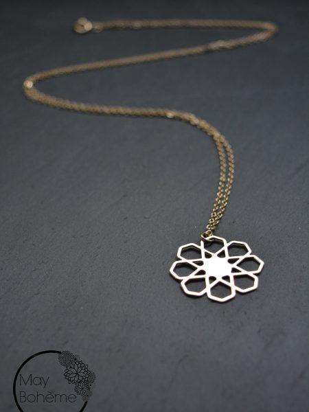 "Sautoir Orientaliss ""May Moucharabieh"" - Sautoir pendentif Mosaïque orientale"