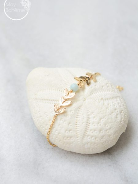 """Bracelet Roma """"Bohemian Mood"""" - Bracelet épis de blé perle facettée"""