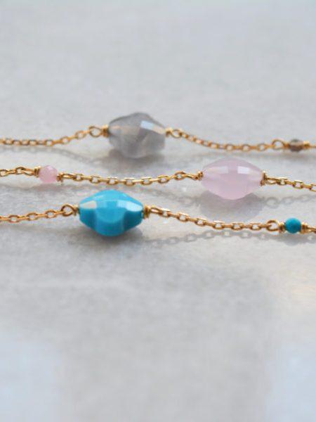 """Bracelet trèfle Lovely Gold  """"Bohémienne Chic"""" - Bracelet en plaqué or jaune"""