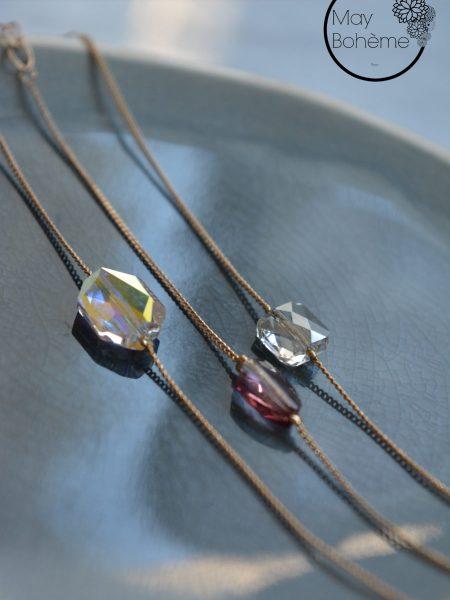 "BRACELET APARTE ""MAY MINIMALISTE"" - Bracelet fin cristal Swarovski"