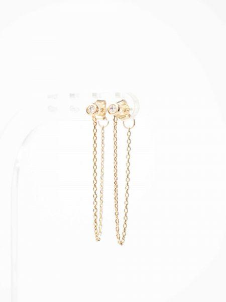 """Boucles d'oreilles Zara  """"Bohemian Mood"""" - Boucles d'oreilles pendants brillant zirconium Chainette"""