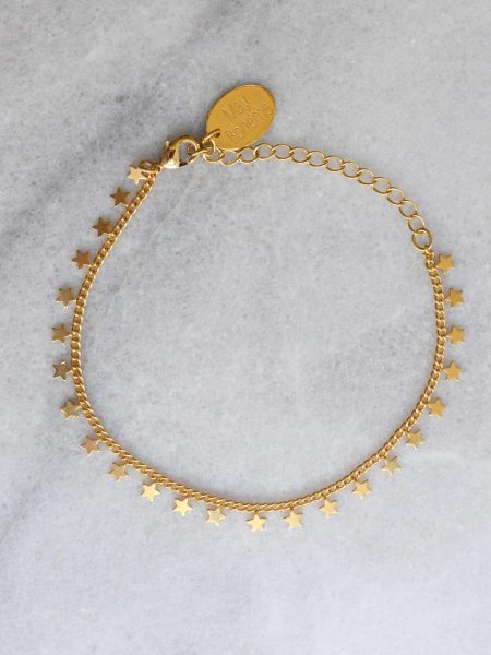 """Bracelet Little Star """"Bohemian Mood """" Bracelet fin plaqué or petites étoiles"""