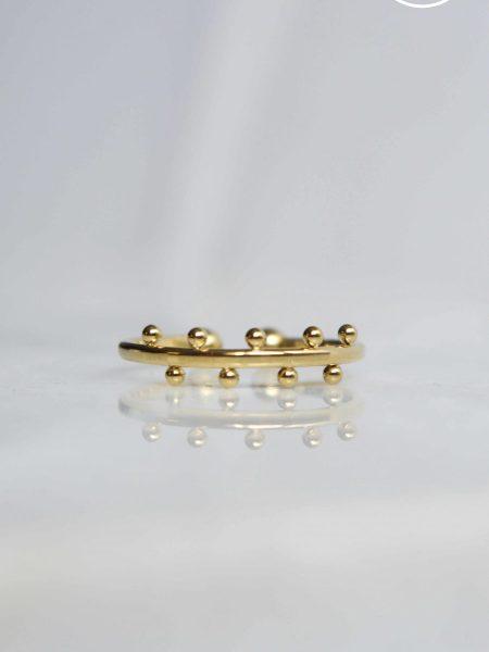 """Bague Rayané """"BOHEMIAN MOOD"""" - bague ouverte ajustable petites perles acier inoxydable"""