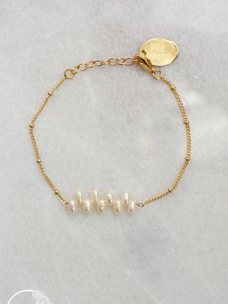 """Bracelet Coline """"BOHEMIAN MOOD"""" - Fin bracelet perles d'eau douce"""