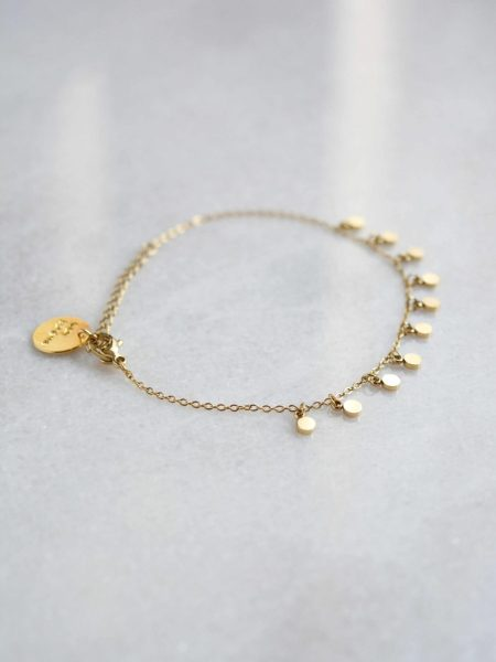 """Bracelet Marion """"BOHEMIAN MOOD"""" - Bracelet chaîne fine petites pastilles acier inoxydable"""