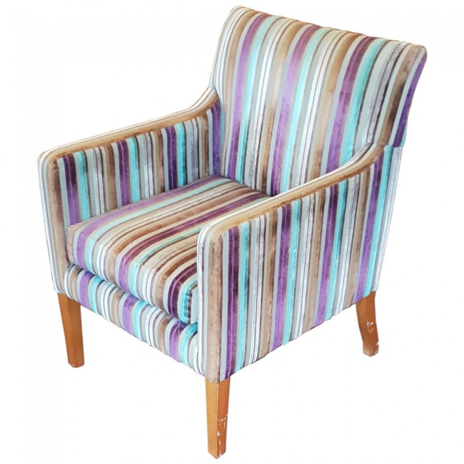 large tub chair earl jess design ex hotel striped upholstered square zoom