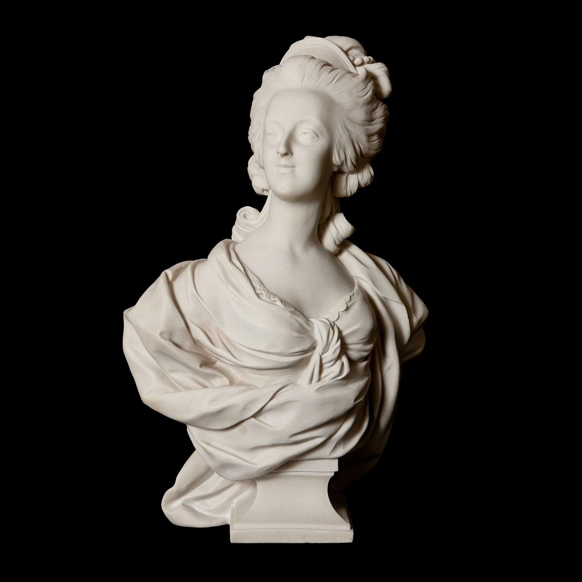 French antique marble bust of Marie Antoinette  Mayfair