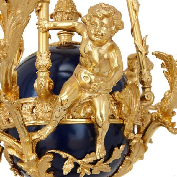 Antique French Rococo Style Gilt Bronze Chandelier