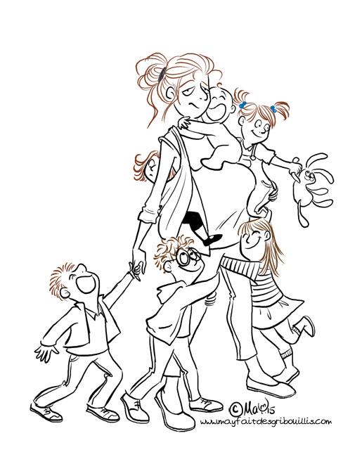 Le plus beau métier du monde : Maman - ©MaY2015 - Pour en voir plus : www.mayfaitdesgribouillis.com
