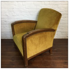 Art Deco Style Club Chairs Folding Chair Quality Original French Mayfly Vintage Relining
