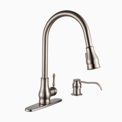 Single Hole Kitchen Faucet With Pull Out Spray Paint Suggestions For Brixton Brass Sink