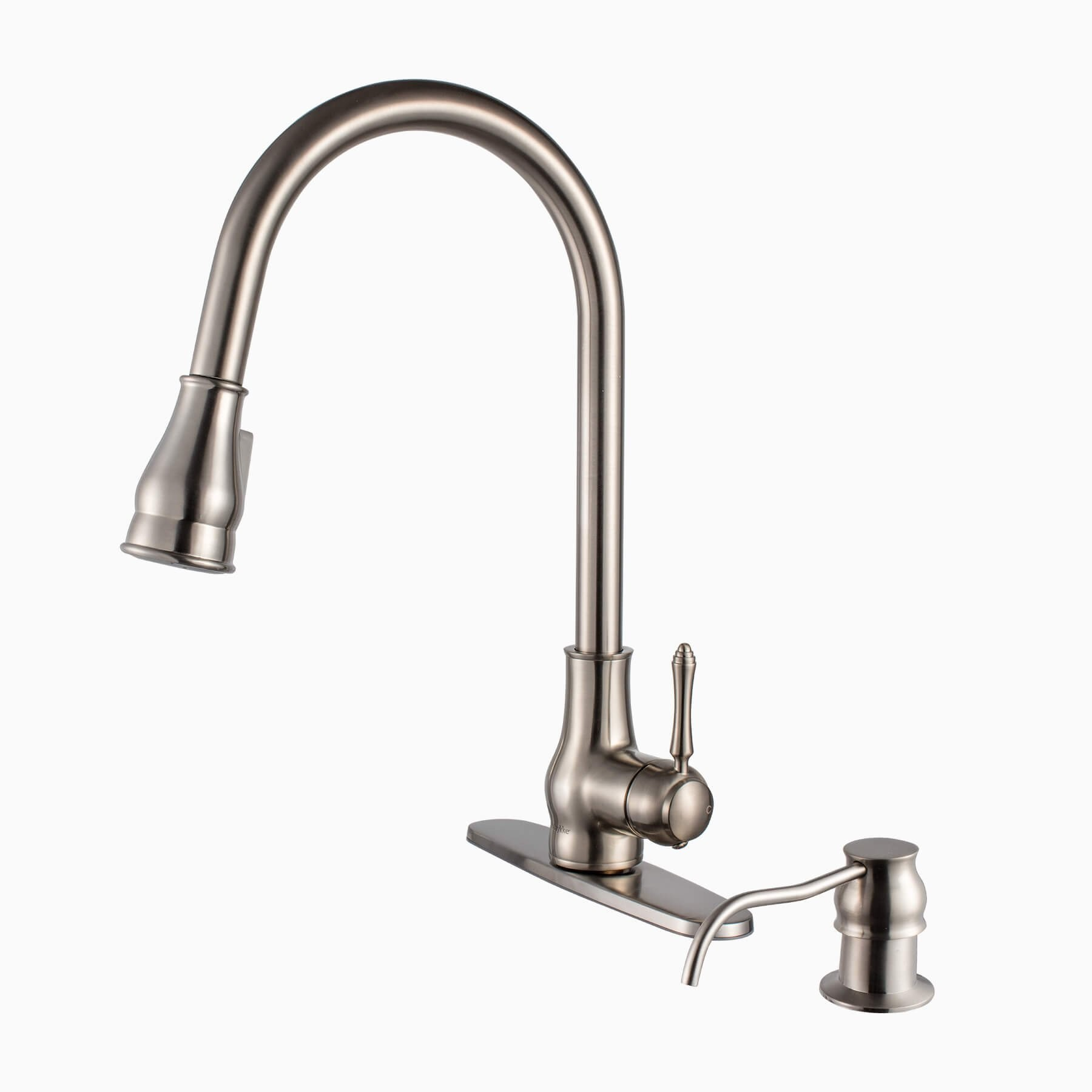 single hole kitchen faucet with pull out spray replacing sink brixton brass