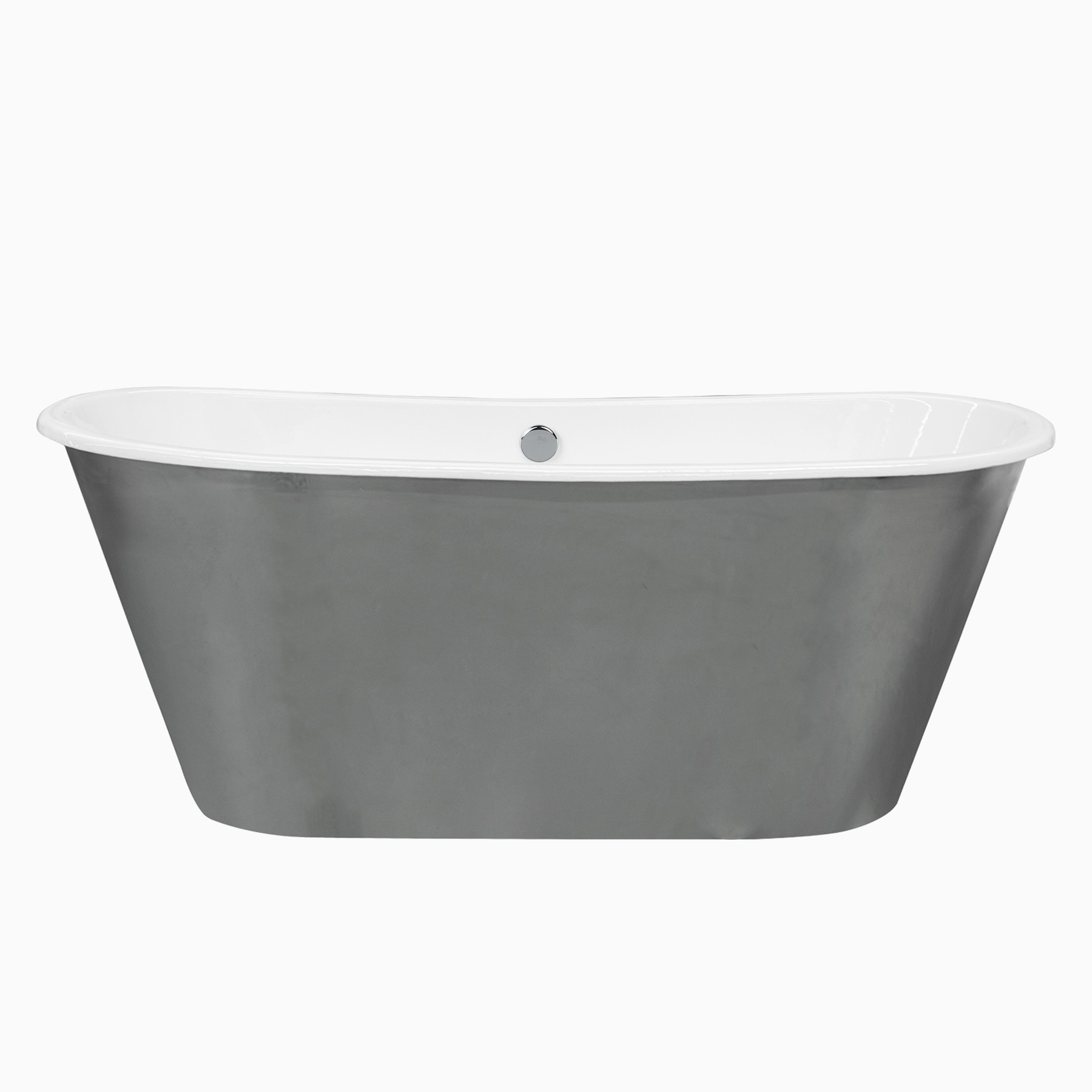 67 Woodward Cast Iron Freestanding Skirted Bathtub Traditional Oval Tub White Left Right Side Drain