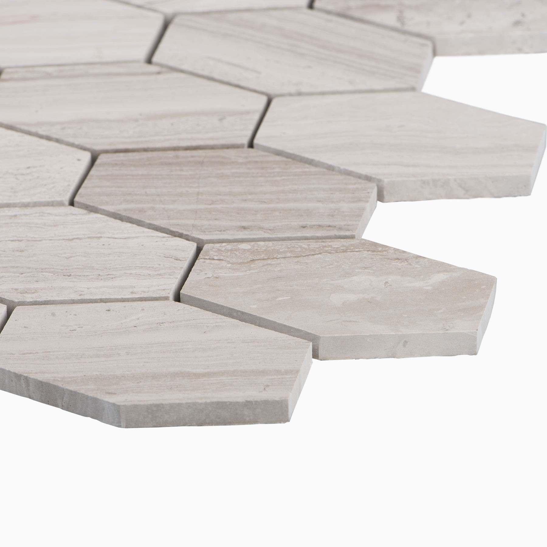 cooper 10 pack long mosaic wall and floor tile wooden white marble