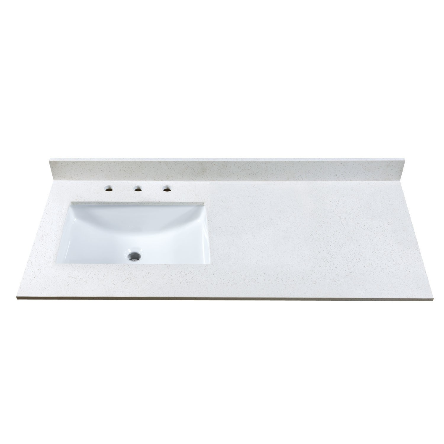 49 stone vanity top w side or center sink cutout and 8 widespread faucet holes