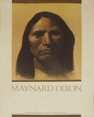 Maynard Dixon Books Posters Maynard Dixon Poster Portraits of the Native America 1981 California Academy of Sciences show