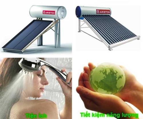 Sử dụng may nuoc nong nang luong mat troi