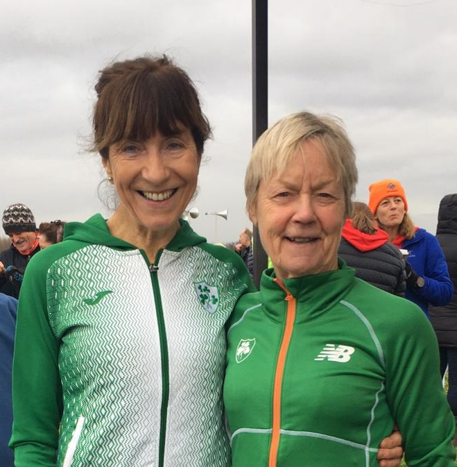 Pauline Moran and Mags Glavey at International cross country