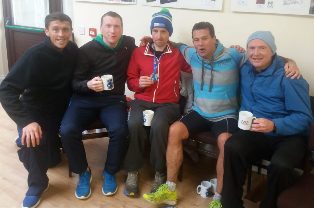 Celebrating at Attymass l-r John Byrne, Andy Neary, Eamon Joyce, Dave Corcoran, Brendan Murphy