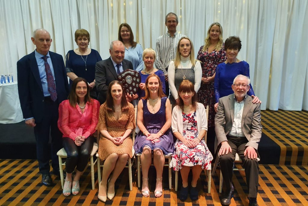 """Mayo AC """"Masters Club of the Year"""" Award - Brendan Chambers presented to Mags Glavey"""