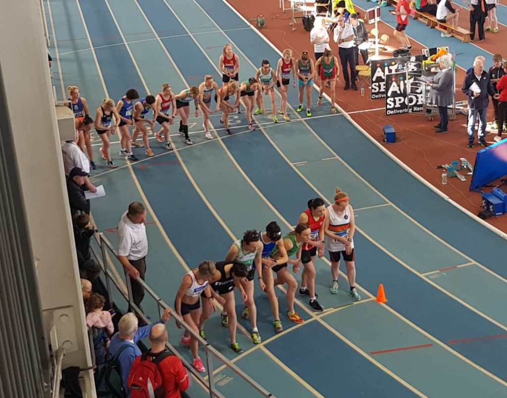 On the start line for Women's 3,000 metres
