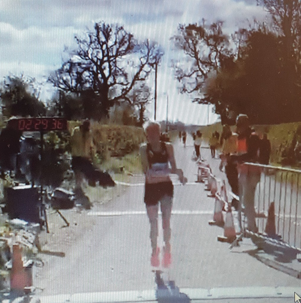 Aoife Cooke stops her watch at Cheshire marathon finish line 2:28.36