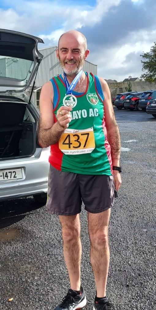 Martin Fitzmaurice  happy after Enniscrone Half Marathon 1:52.44