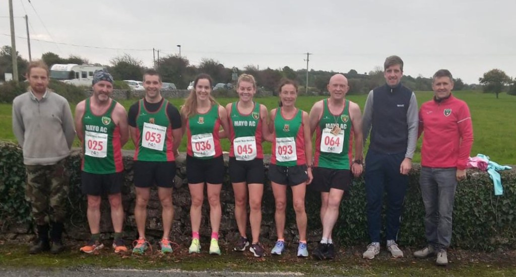 Mayo AC competitors and supporters at Clogher half marathon
