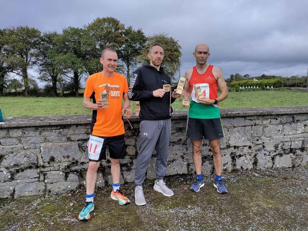 First three men: l-r 3rd Darren Flanagan, 1st John Gordon, 2nd Seamus Silke