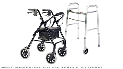 walker roller chair salli saddle slide show tips for choosing and using walkers mayo clinic photo of two types