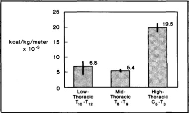 Energy Expenditure in Patients With Low-, Mid-, or High