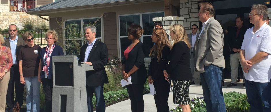 Austin Mayor Adler announces Oak Springs initiative for housing homeless