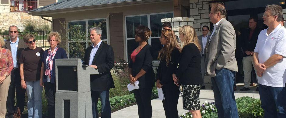 Austin Mayor Adler announces Oak Springs initiative for housing homeless