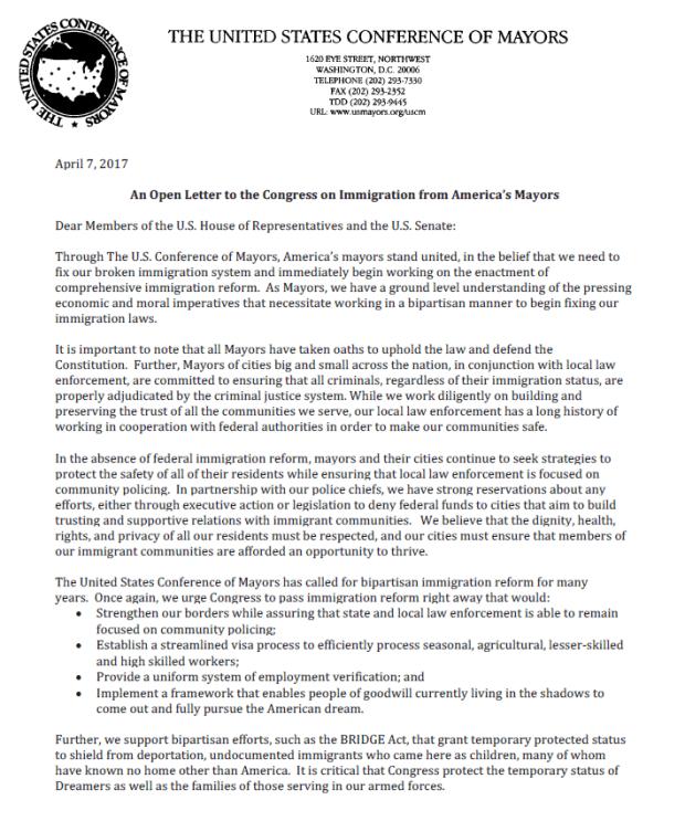 USCM immigration letter