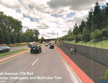 New intersection, signal, trail to enhance Dougall Avenue