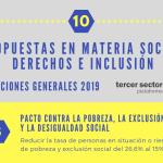 10 propuestas del Tercer Sector en materia social, derechos e inclusión ante las Elecciones Generales 2019