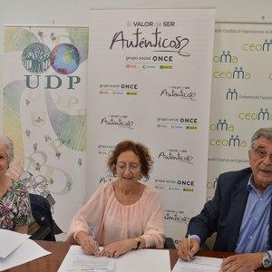 CEOMA,  UDP y ONCE Firman un preacuerdo de Colaboración para crear una  Plataforma Estatal de Organizaciones de Mayores y Pensionistas