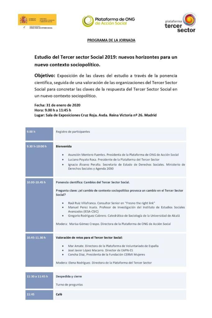 Presentación Estudio Tercer Sector 2020