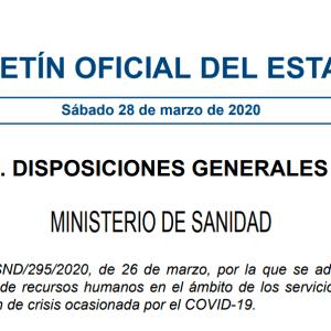 Boletín oficial del Estado 28 de Marzo