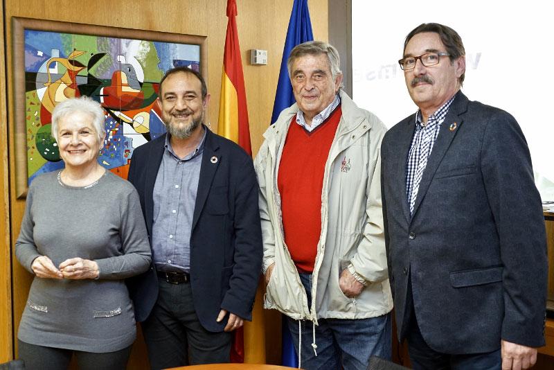Paca Tricio, Presidenta de UDP se reúne en marzo de 2020 con Luis Alberto Barriga Martín, Director del IMSERSO y CEOMA.