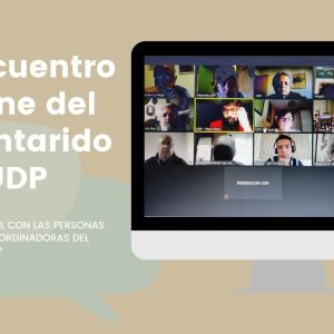 El primer encuentro virtual del Voluntariado UDP