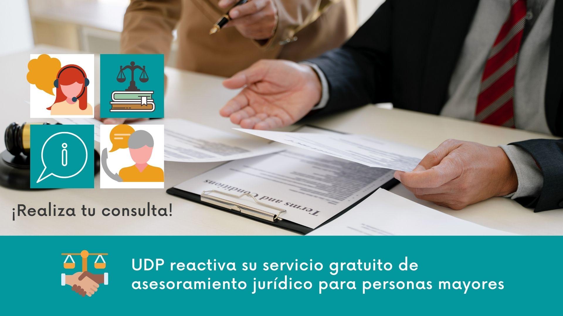 UDP reactiva su servicio gratuito de asesoramiento jurídico para personas mayores