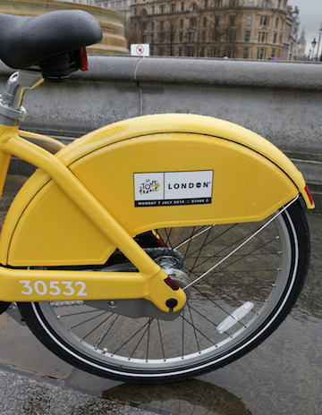 The yellow bikes have been designed in honour of the 101st Tour de France.