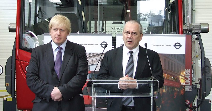 Sir Peter Hendy with Mayor Boris Johnson.