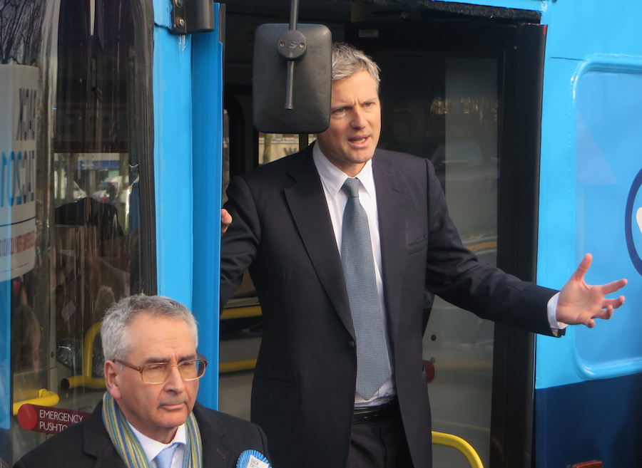 Zac Goldsmith with London Assembly member Tony Arbour.