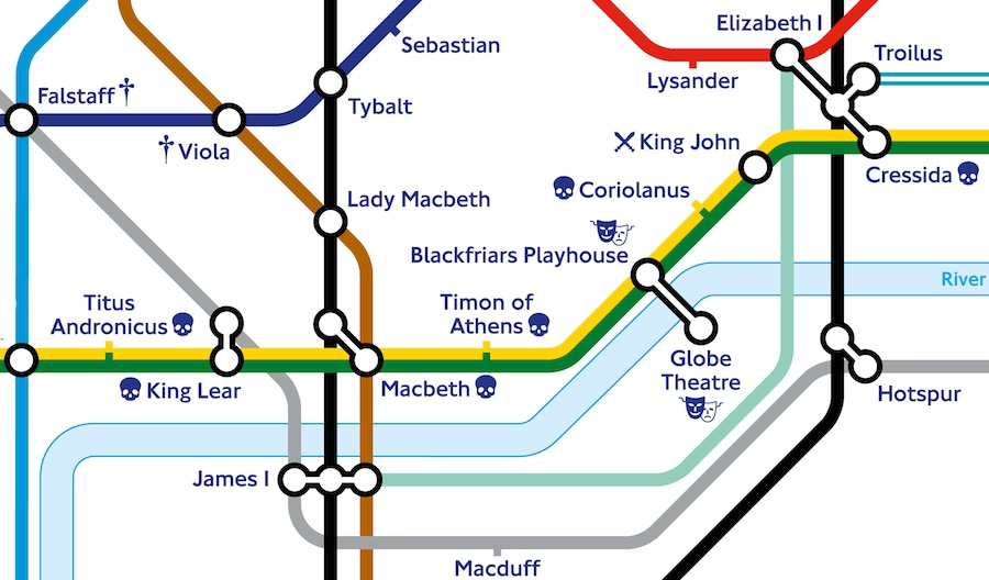 Shakespeare-Tube-Map