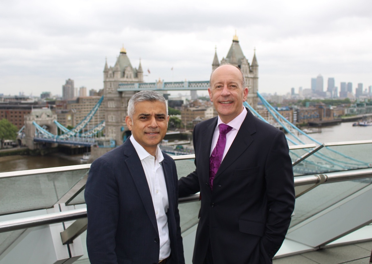 Sadiq Khan and Jules Pipe at London City Hall. Image: Greater London Authority